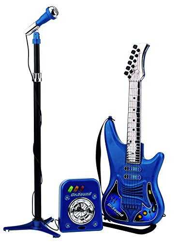 REIG- Set con Guitarra, Micrófono y Bafle, 63 x 20 x 82 cm (REIG810)