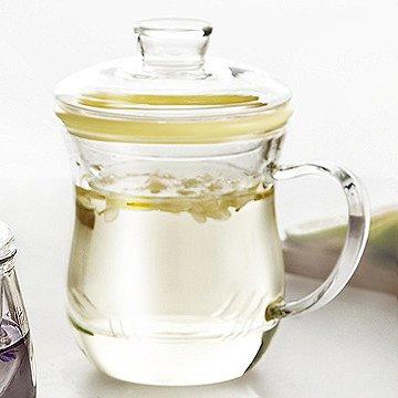 YX.LLA Getränkehalter für hitzebeständige Glas kreative Zitrone duftenden Kaffee Tassen mit Abdeckung Office Filter transparentes Wasser Schüssel, Herr Wong -