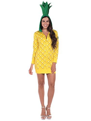 Tipsy Elves Ananas-Kostüm für Erwachsene, für Halloween, Ananas, Einteiler für Damen, Gelb - Gelb - (Ananas Kostüm Für Erwachsene)