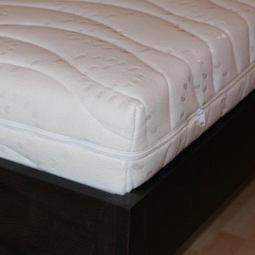 Bettwaren-Shop Ersatz Matratzenbezug Doppeltuch 90x200 cm, 16 cm Kernhöhe