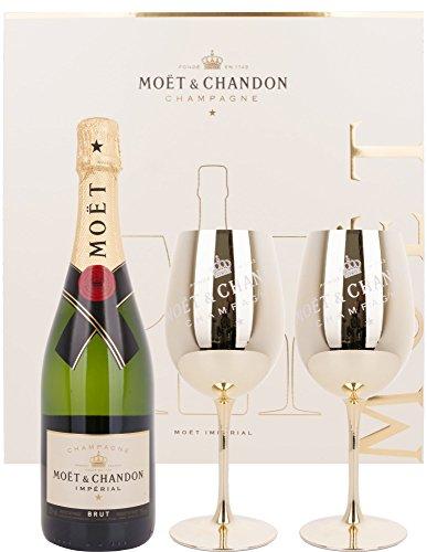 Moet & Chandon Impérial Brut mit Geschenkverpackung mit 2 Gläsern (1 x 0.75 l)