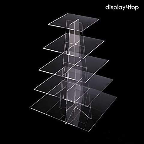 Display4top Cupcake Stand Acrylic Display For Wedding Birthday Party (5
