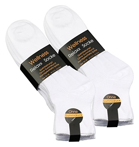 Vincent Creation 8 Paar Damen Wellness Kurzsocken ohne Gummibund und handgekettelte Spitze, original