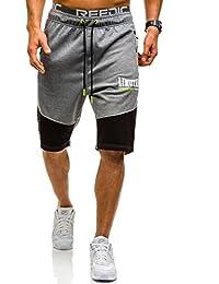 BOLF – Pantalons courts – Short – Jogging – Sport – Fitness – Motif – Homme [7G7]