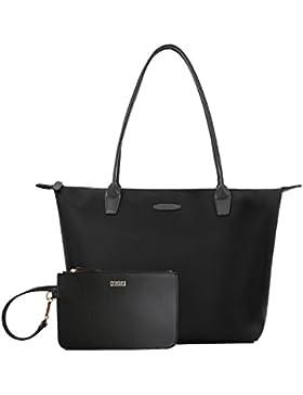 ECOSUSI Nylon Shopper Tasche Schulterbeutel Arbeit Handtasche