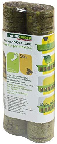 Windhager Pastilles de Germination Coco, Brun, 3,5 x 7,2 x 19,7 cm