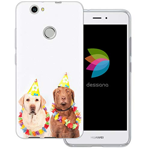 Kostüm Novos - dessana Fasching Party transparente Schutzhülle Handy Case Cover Tasche für Huawei Nova Kostüm Hunde