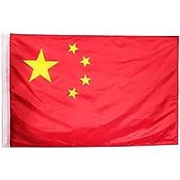 3x5ft / 90x150cm Bandera Nacional Grande de China Bandera de China de latón para los desfiles Bar Escuela Deportes Eventos Celebraciones del Festival Home Office Decor