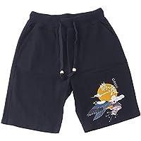Pantalones de playa pantalones cortos de lino de los hombres flojos originales de impresión de estilo chino cinco pantalones de verano de algodón lino verano brocado parche de marea de moda masculina