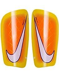 Nike Mercurial Lite - Tobillera unisex, color azul/morado/lima (blue lagoon/hyper grape/(volt)), talla L