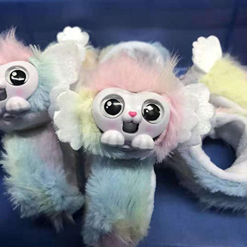 Wrapples Juguetes de peluche interactivos, Muñeca muñequera,  amigos,  conversación,  mascotas en vivo,  Bofetadas con peluche de animales,  Muñequera niña Regalo de Navidad reyes para niños PRINCEZA SHORA