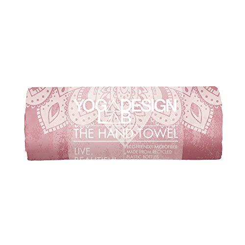 Yoga Design Lab | Toalla de Mano | Suave | Antideslizante | Absorbente | Secado rápido |Hecho de Microfibra de Botellas recicladas | Diseñada con tintas ecológicas (Mandala Ginger)