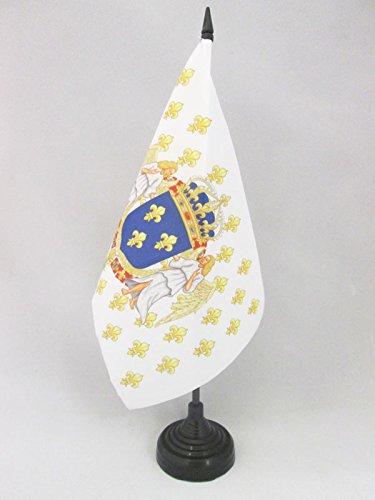 AZ FLAG TISCHFLAGGE KÖNIGREICH Frankreich Engel 21x14cm - Frankreich TISCHFAHNE 14 x 21 cm - flaggen -
