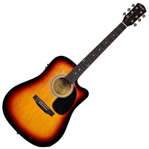 guitares-electro-acoustiques-squier-by-fender-by-fender-sa-105ce-sunburst-folk-electro