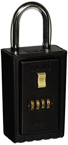 Keyed Lock-set (NU-SET 2020-3 4-Number Combination Lock Box with Keyed Shackle by NUSET)