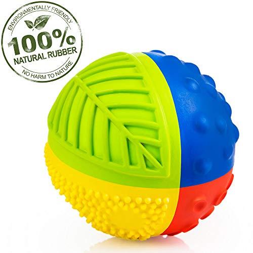 CaaOcho 7003 - Sensory Ball Regenbogen - Bio Motorikspielzeug aus Naturkautchuk, 8 cm -
