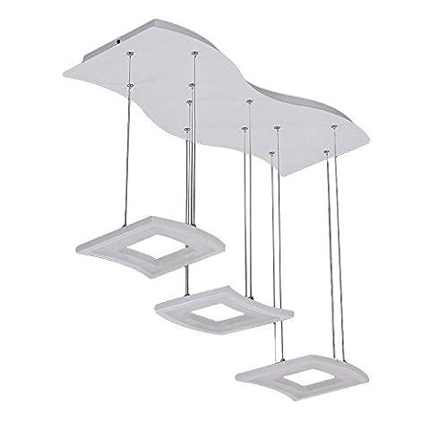 Modern Pendelleuchten Einfach Kreativ Acryl Plexiglas Schatten LED Deckenbeleuchtung, Weiß