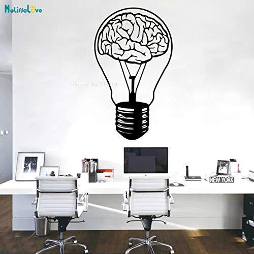 Zhuziji il cervello è il fondamento della luce adesivo murale motivo per decalcomanie adesivo decorazioni per la casa poster in vinile rimovibile rosso l 42x71cm