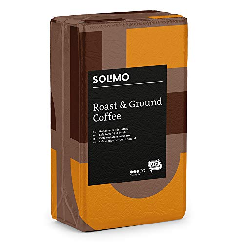 Marchio Amazon - Solimo Caffè macinato compatibile con diverse macchine da caffè - certificato UTZ, 2 kg (4 x 500g)