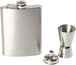 Ihomes Hip Flask, Peg Measure & Funnel