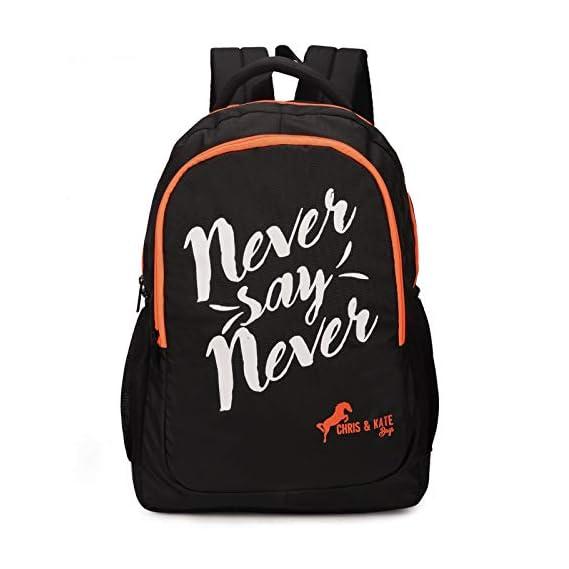 Chris & Kate Big & Comfortable 38 Ltrs Black Bag - Casual Backpack - College Bag - School Bag - Daypack