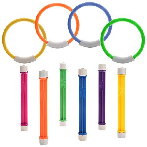 Lykke.. Farbe Tauchen Ring Wasser Schwimmen Spielzeug Kinder Sommer Hohe Qualität Geschwindigkeit und Beweglichkeit Ausbildung Durable Robustes Gewichtete Kunststoff Material
