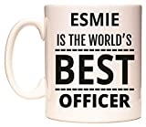 ESMIE is The World's Best Officer Mug by WeDoMugs