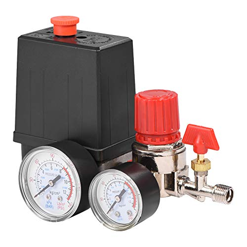 Pequeño compresor de aire plástico Interruptor de presión Control Control de válvula de peso ligero Interruptor con manómetros
