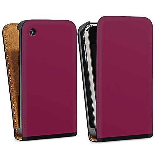 Apple iPhone 5s Housse étui coque protection Aubergines Couleur Lilas Sac Downflip noir