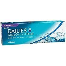 DAILIES AquaComfort Plus Lentes de contacto multifocales diarias, R 8.7, D 14, -7.75 dioptría, adición alta - 30 lentillas