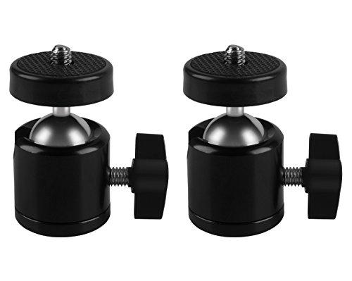"MIDWEC 2 Stück 1/4"" Stativ Mini Kugelkopf für HTV VIVE Projektor/Kamera Camcorder Kernpunkte"