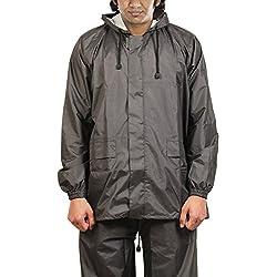 New-Era Raincoat (Salacious-gry_L SIZE_Grey)