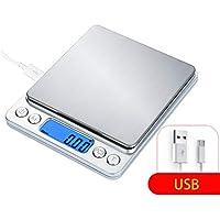 DPPAN Electrónica Balanza de Alimentos, Alta Precisión Digital Báscula de Cocina Peso de Cocina Incrementos