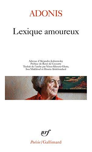 Lexique amoureux par Adonis