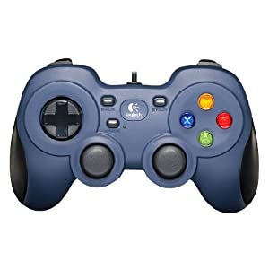 Logitech F310 analoges Gamepad  (Multidirektionale Tasten, PC/Mac, kabelgebunden), blau