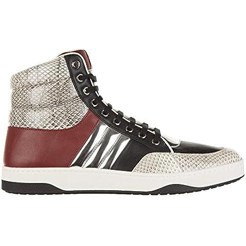 Gucci scarpe sneakers alte uomo in pelle nuove ayers