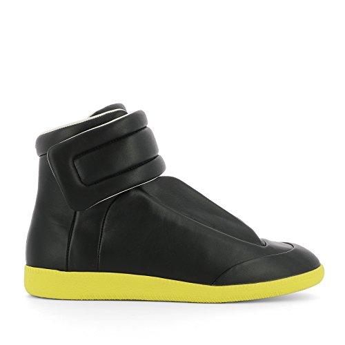 maison-margiela-hombre-s37ws0273sx8966965-amarillo-negro-cuero-zapatillas-altas