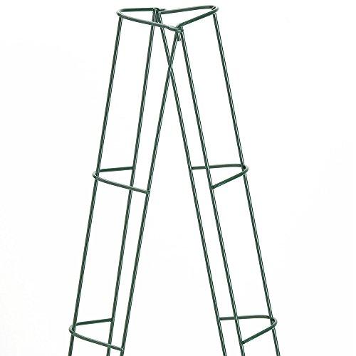 2er Set Rankturm verzahnbar Rankhilfe Rankspalier Rankgerüst Pflanzen grün 202 cm