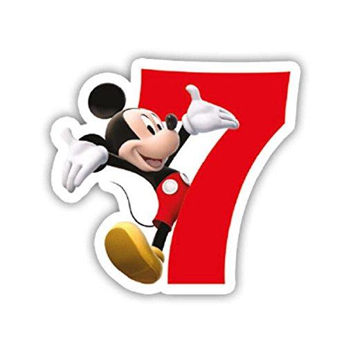 Mickey Maus Nummerierte Geburtstagskerzen Nr.7