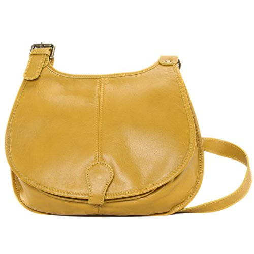 07c7d05ee7fa7 OH MY BAG Sac à main besace cuir lisse style cartouchière