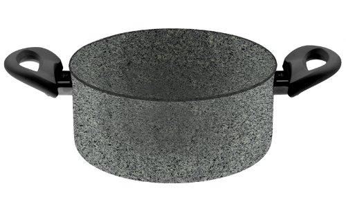 Ballarini Cortina Granitium Casseruola 2 Maniglie, Alluminio, Grigio, Diametro 24 cm