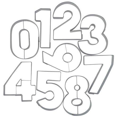 Ausstechform Zahl 1, Edelstahl, 6,5 cm