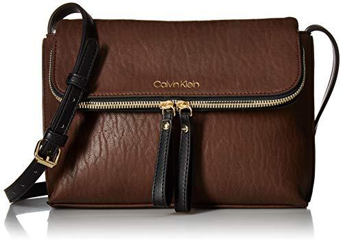 Calvin Klein Elaine Bubble Lamb Novelty Key Item Flap Crossbody, Walnut