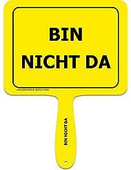 """'Panneaux jaunes + + le original + + Lustiges Jaune Plastique humoristique avec inscription avec poignée + + texte: """"Ne Suis Pas da + + macagua actionneur + + Panneaux jaunes + + Idéal pour le bureau–Amenez vos collègues rire."""