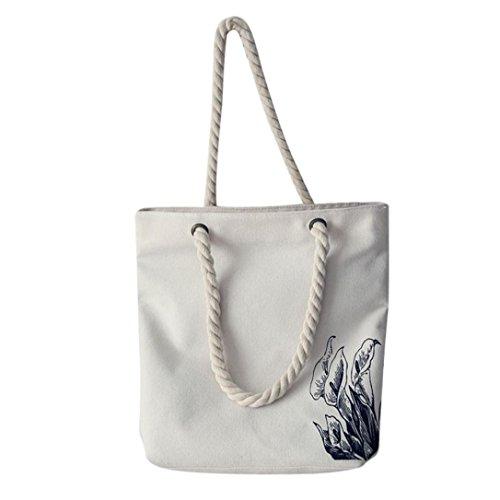 Zarupeng Frauen Mori Art Handgemalte Segeltuch Taschen Kapazitäts Schulter-Beutel B