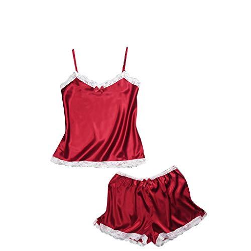 PorLous Unterwäsche, 2019 Demen Satin Schlinge Nachtwäsche Dessous Spitze Bowknot Nachthemd Unterwäsche Sexy Mode