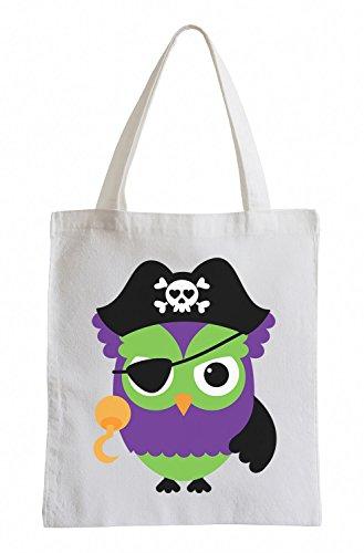 Raxxpurl Pirate Owl Fun sacchetto di iuta