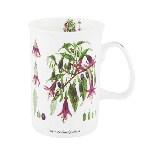 Ashdene Flowers of New Zealand - Fuchsia - Fine Bone China Cup Mug Porzellantasse Tasse Becher tazza taza 11,5cm 320ml, by Jo Ewing, Gift box, best quality, ASHDENE, Australia Fuchsia Bone China