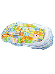 Mee Mee Baby Mattress Set with Mosquito Net and Pillow (Blue)