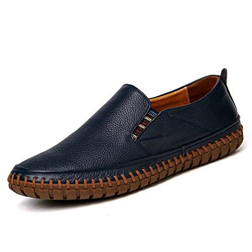 Männer Casual Flats Schuhe Slip auf Schuhe Echte Leder Loafers Mens Schuhe - 11 Wasser-schuhe Size Mens